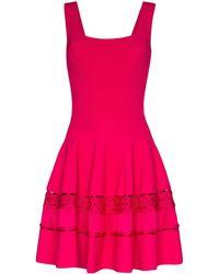 Alexander McQueen Платье Со Вставками В Технике Кроше - Розовый