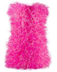 The Attico Mini-jurk Met Veren - Roze