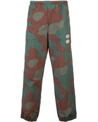 Off-White c/o Virgil Abloh Camouflage Print Track Pants - Groen