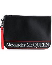 Alexander McQueen - ロゴ クラッチバッグ - Lyst