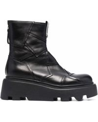 Premiata パッチワーク ブーツ - ブラック