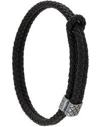 Bottega Veneta Woven Bracelet - Zwart