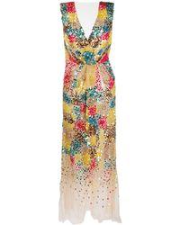Elisabetta Franchi Vestido de cóctel con lentejuelas - Multicolor