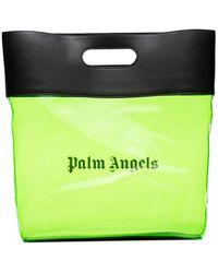 Palm Angels ロゴプリント ハンドバッグ - グリーン