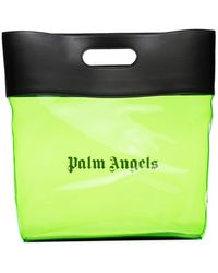 Palm Angels Logo-print Transparent Tote - Green