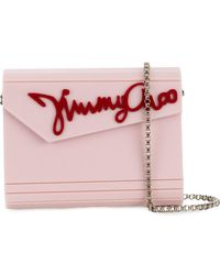 Jimmy Choo - Rosewater Pink And Red Candy Clutch - Lyst