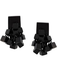 Monies - Clip-on Cube Earrings - Lyst