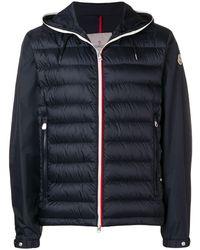Moncler フーデッド パデッドジャケット - ブルー