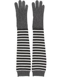 Brunello Cucinelli Длинные Перчатки В Полоску - Серый