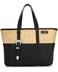 KATE CATE Two-tone Woven Tote - Multicolor
