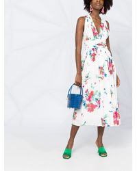 Boutique Moschino フローラル ドレス - ホワイト
