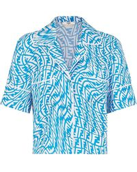 Fendi Pijama con logo FF - Azul