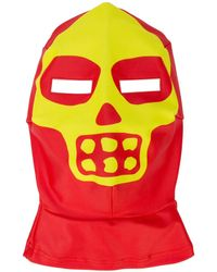 Walter Van Beirendonck Skeleton Mask Balaclava - Red