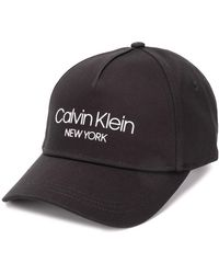 Calvin Klein Baseballkappe mit Logo - Schwarz