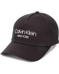 Calvin Klein Casquette à logo - Noir