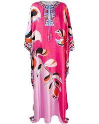 Emilio Pucci Printed Silk Kaftan - Pink