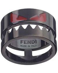 Fendi Bag Bugs Ring - Black