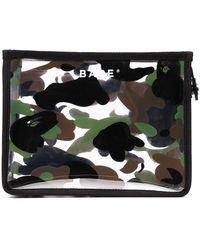 A Bathing Ape 1st Camo Camouflage Pouch - Black