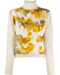 Hermès Блузка 2000-х Годов С Принтом - Многоцветный