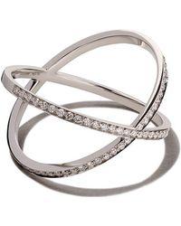 Vanrycke - 18kt White Gold And Diamond Physalis Ring - Lyst