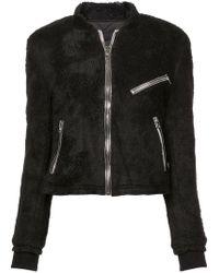 Lyst - Abrigo de pelo con capucha Colmar de color Negro 4c850c9c73e7