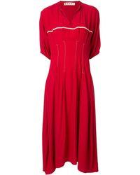 Marni Robe évasée à manches courtes - Rouge