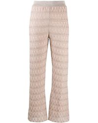 Missoni Flared Zigzag Trousers - Natural