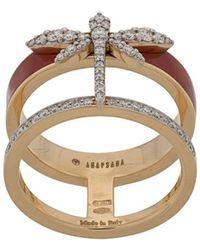Anapsara Dragonfly Finger Ring - Metallic