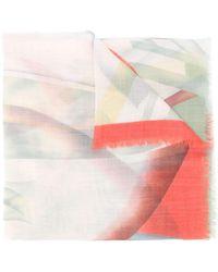Etro Pashmina con motivo abstracto - Verde