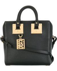 bce644a0b Sophie Hulme Micro 'albion' Crossbody Bag in Black - Lyst