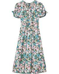 Marc Jacobs Платье Миди The 40's - Синий