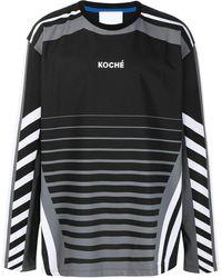 Koche ロゴ ロングtシャツ - ブラック