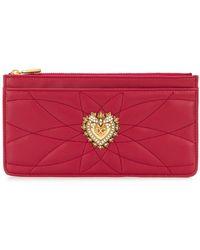 Dolce & Gabbana Grand porte-cartes Devotion - Rouge