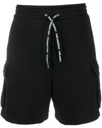 Karl Lagerfeld ロゴ トラックショーツ - ブラック