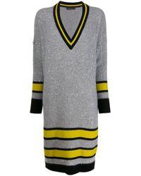 Fabiana Filippi Трикотажное Платье С Пайетками - Серый