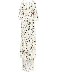 Oscar de la Renta - Robe longue à épaules dénudées - Lyst