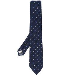 Canali Krawatte mit geometrischem Muster - Blau