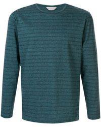Gieves & Hawkes ストライプ Tシャツ - グリーン