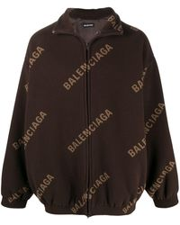 Balenciaga Куртка На Молнии С Логотипом - Коричневый