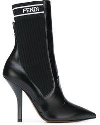 Fendi - Rockoko Logo Boots - Lyst