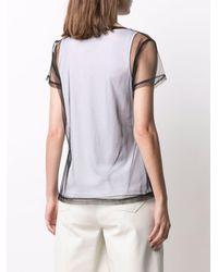 DKNY Semi-transparentes T-Shirt - Weiß