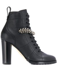 Jimmy Choo Cruz 95 Ankle Boots - Zwart