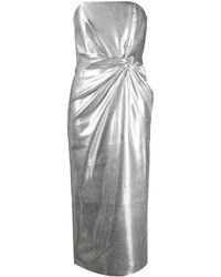 16Arlington メタリック ツイスト ドレス