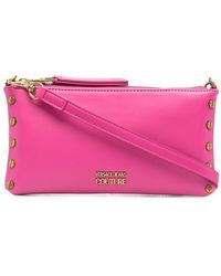 Versace Jeans Couture Клатч С Металлическим Логотипом - Розовый