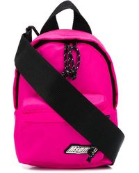 MSGM Logo Patch Backpack - Pink