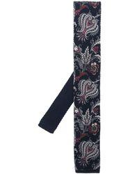 Etro Cravatta a fiori - Blu