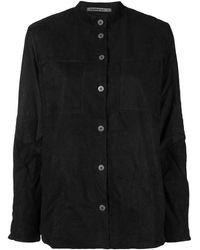 Transit - ノーカラー レザーシャツジャケット - Lyst