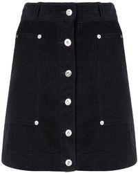 2212938553 Proenza Schouler - Button-front Wide-wale Corduroy A-line Mini Skirt -