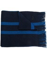 BOSS Double stripe scarf - Bleu