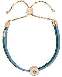Tory Burch Bracelet à breloques logo - Vert